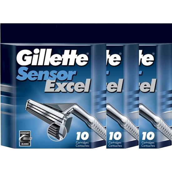 135*Gillette Sensor Excel сменные кассеты (30 шт)