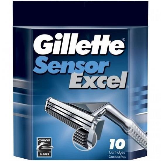 134*Gillette Sensor Excel сменные кассеты (10 шт)