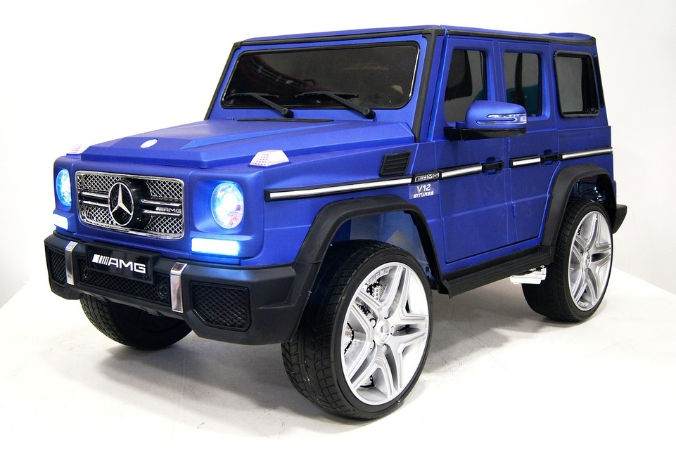 153. Детский электромобиль Mercedes-Benz G65 blue matt