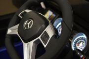 вид на приборы детского электромобиля Мерседес бенц матовый синий цвет :: купите на Detskaya-Mashina.ru