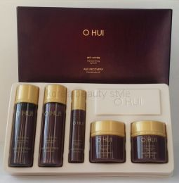 O HUI AGE  RECOVERY  anti-wrinkle intensive firming tightly lift 5 set - набор уходовой косметики для интенсивного лифтинга кожи против морщин от известного корейского бренда O HUI из 5 средств