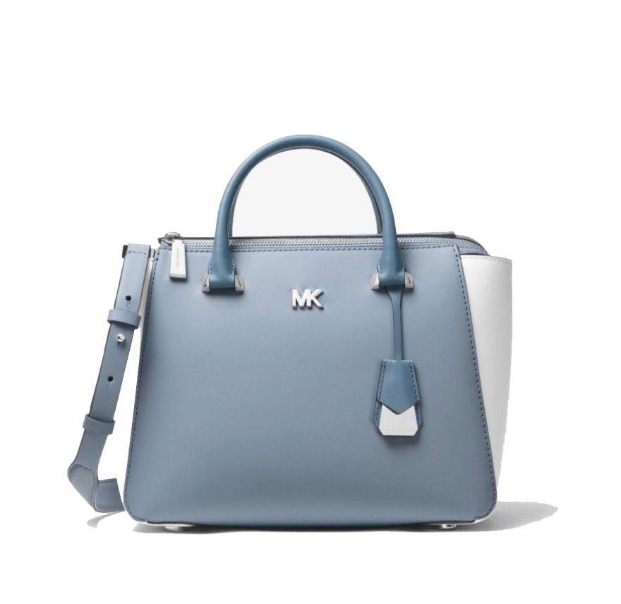 MICHAEL MICHAEL KORS Nolita Color-Block Leather Satchel
