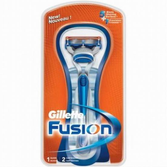 139*Gillette Fusion бритвенный станок с 2 кассетами на подставке, серия Classic