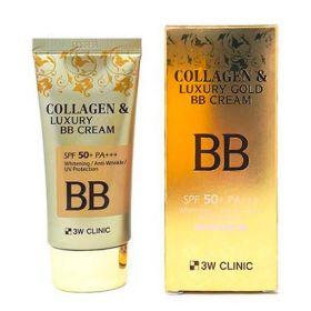 3W CLINIC Luxury Gold BB Cream SPF50+ PA+++ 50ml - ББ-крем с коллагеном и золотом