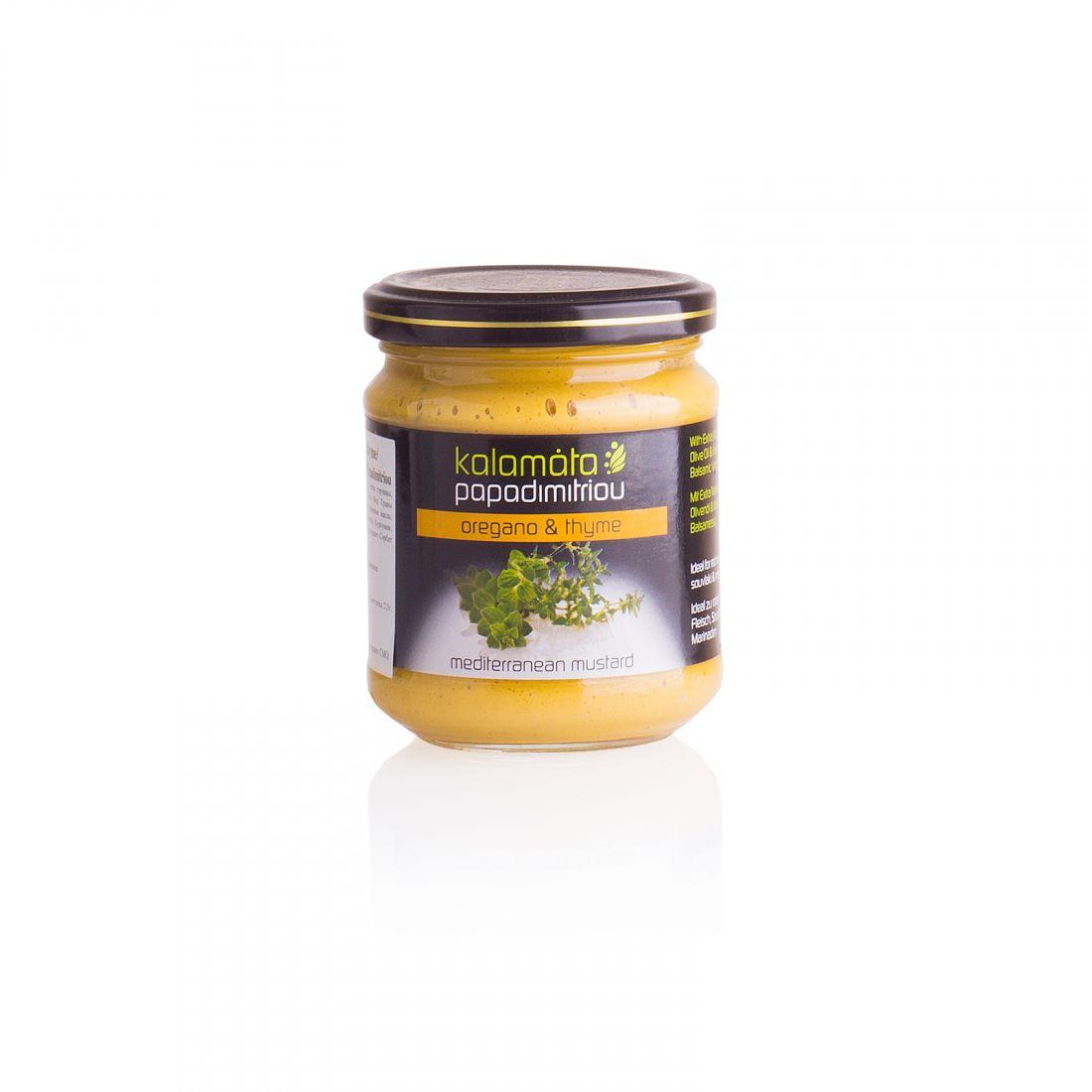 Горчица с душицей и чабрецом Kalamata Papadimitriou - 200 гр - в стекле