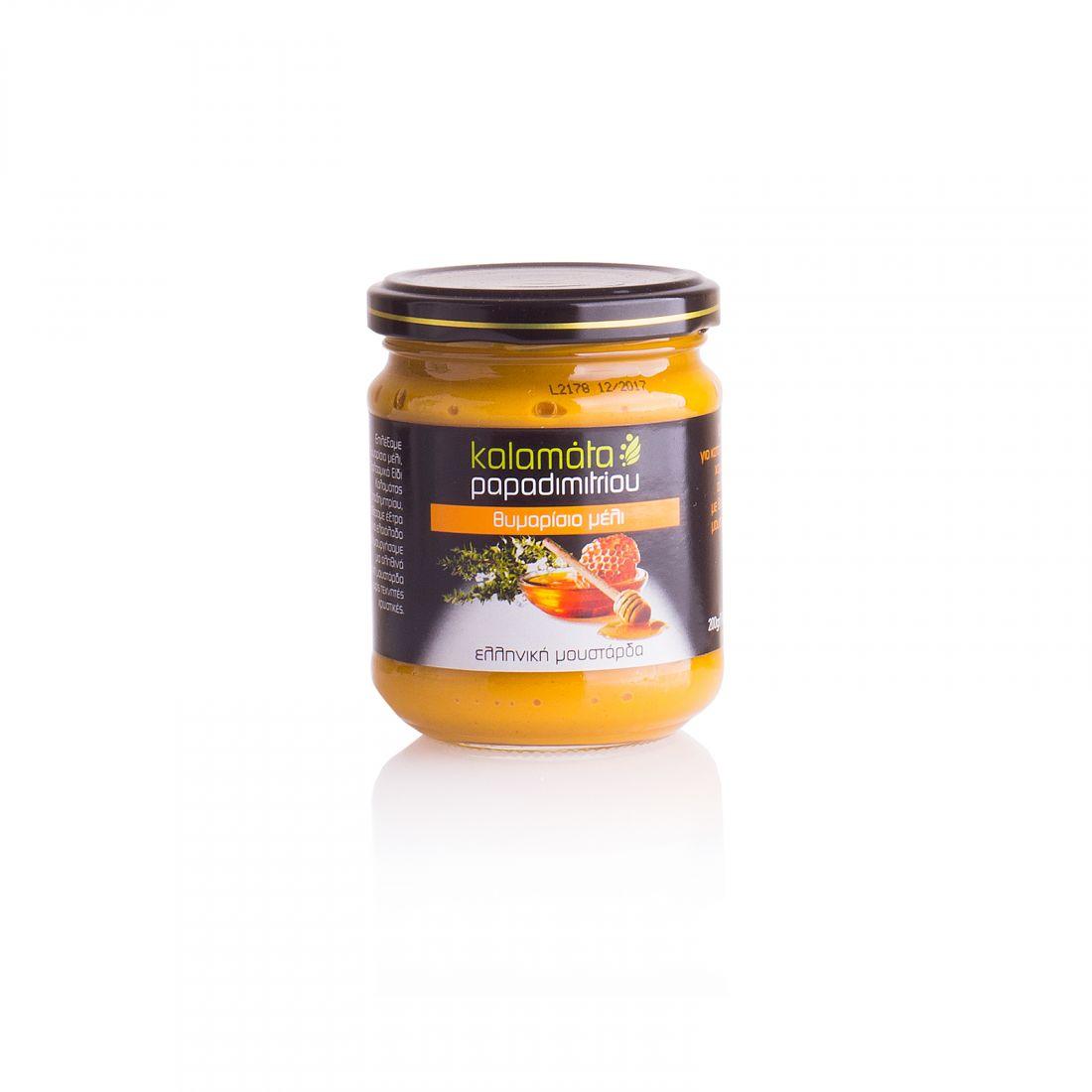 Горчица с медом тимьяна Kalamata Papadimitriou - 200 гр - в стекле