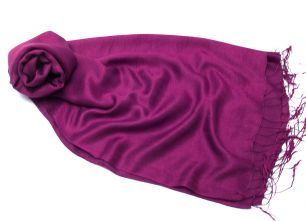 Фиолетовый палантин шелк + шерсть (Москва)