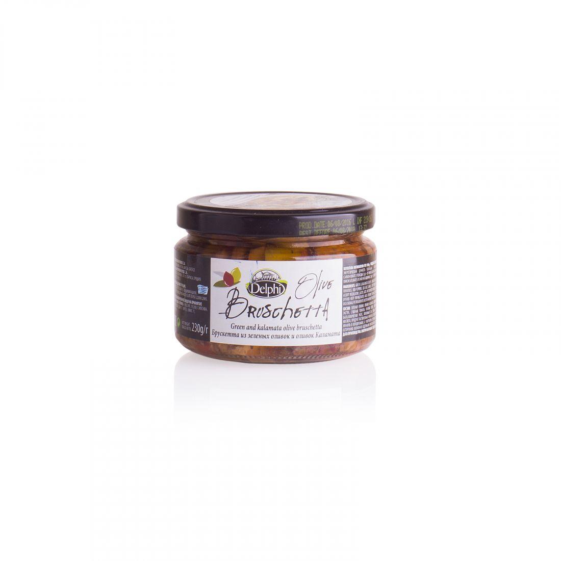 Брускетта из оливок и маслин Delphi - 230 гр - стекло