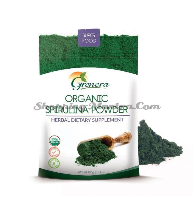 Спирулина в порошке 100гр Гренера Органик | Grenera Organic Spirulina Powder