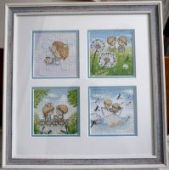 Cross stitch pattern Gentle illustration.
