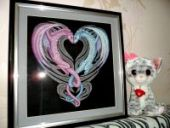 "Cross stitch pattern ""Dragon heart""."