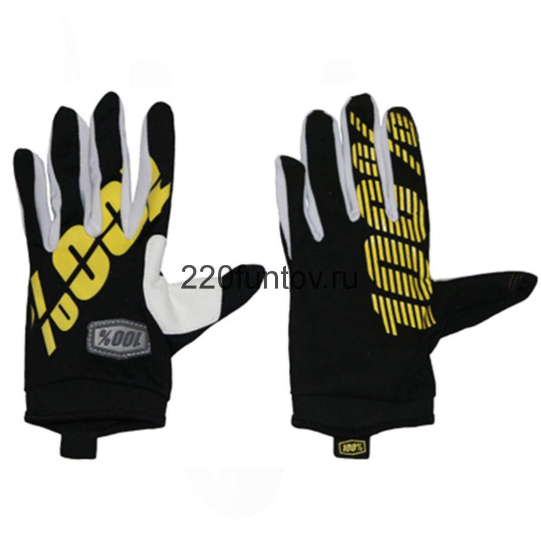 Перчатки 100% черно-желтые