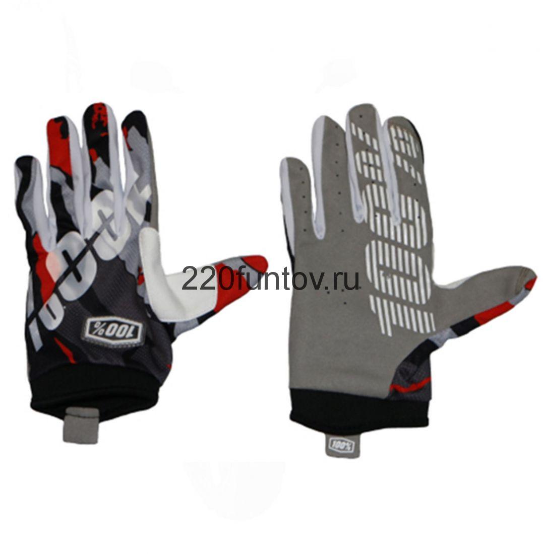 Перчатки 100% черно-красно-белые
