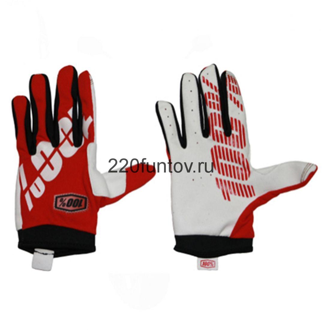 Перчатки 100% красные