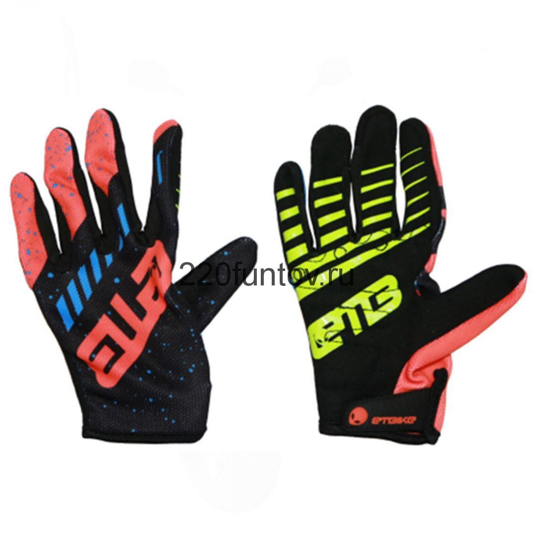 Перчатки ETB оранж-черно-синий