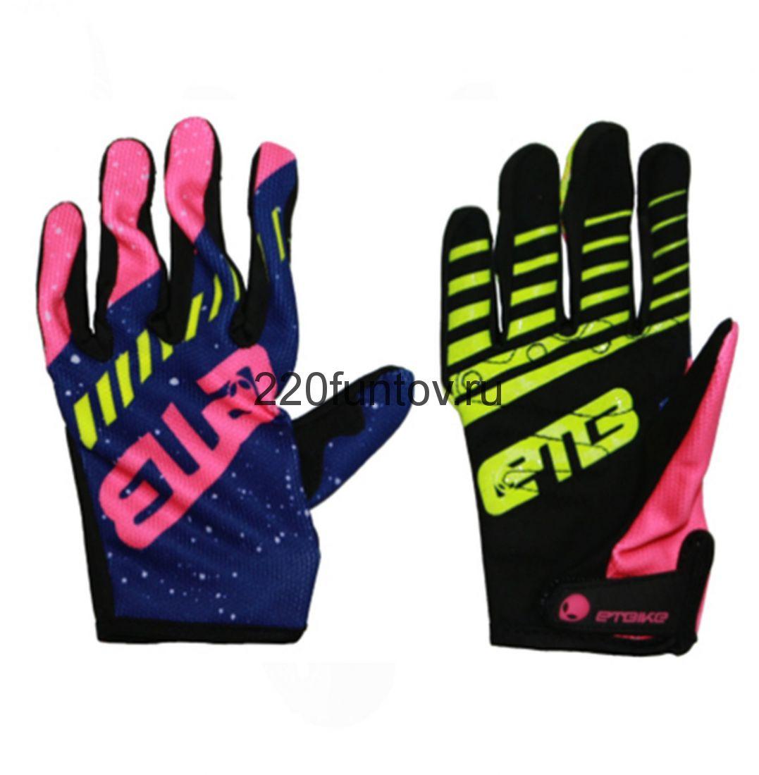 Перчатки ETB розово-зеленый