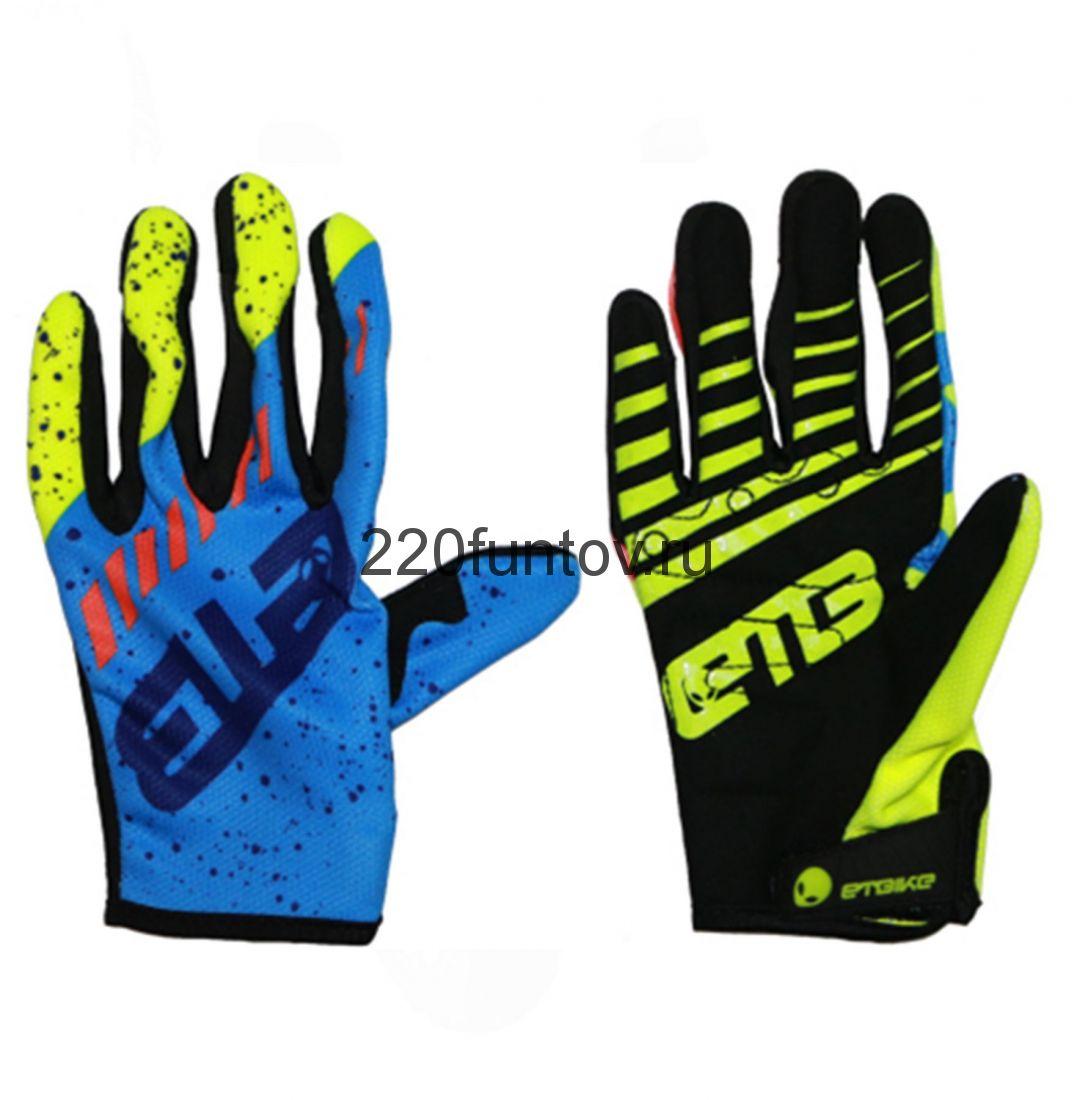 Перчатки ETB сине-салатовый