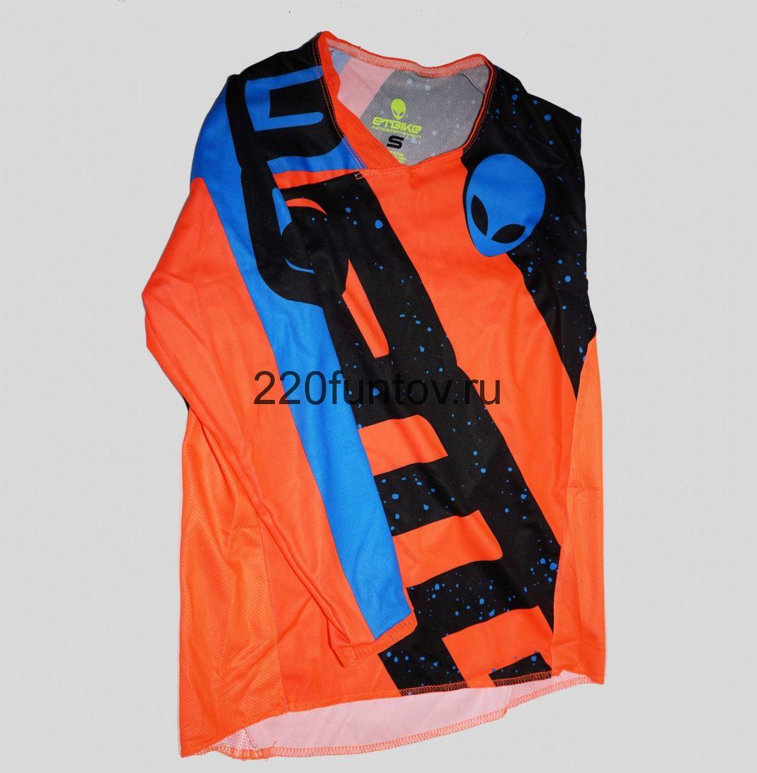 Штаны и Джерси ETBike сине-черно-оранжевый