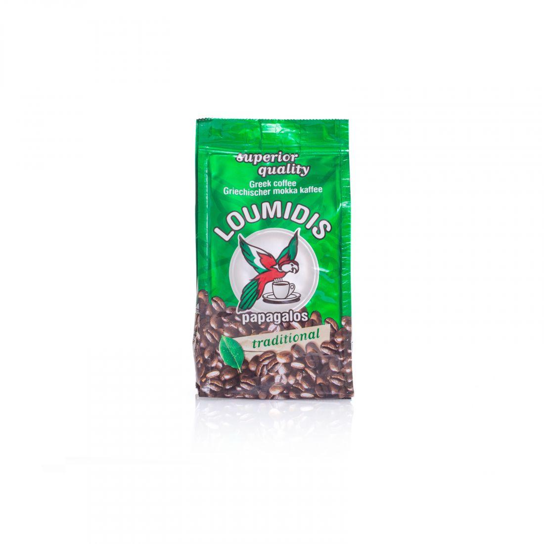 Кофе натуральный молотый Loumidis Papagalos - 194 гр