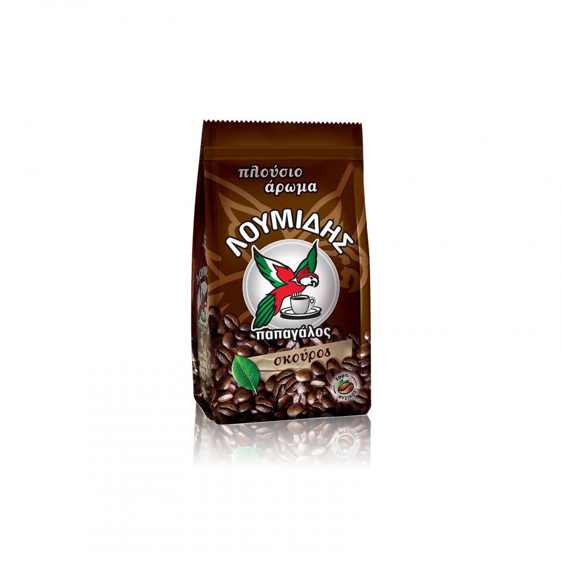 Кофе натуральный молотый Loumidis Papagalos темной обжарки - 96 гр
