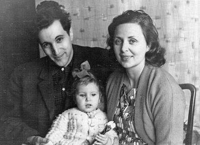 Юрий с первой женой Ольгой и старшей дочерью Катей