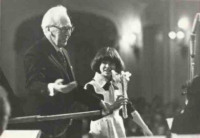 с Катей Сканави, 25 феараля 1985 г.
