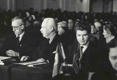 Первый конкурс им. П.И.Чайковского, 1958 г.  Д.Кабалевский, А.Блисс, Э.Гилельс