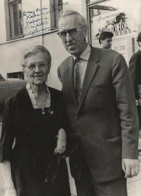 Москва, 1971 г., с Надей Буланже