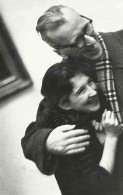 С Кирой Лавринович, дипломанткой Конкурса им. Ф.Шопена. 1960 г.