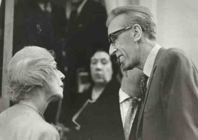 С королевой Елизаветой Бельгийской