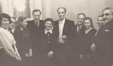 Премьера исполнения 1 Скрипичного концерта - Д.Кабалевский, Д.Шнейдерман, Е.Мравинский