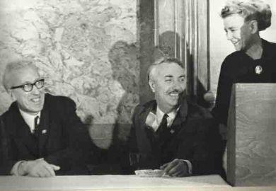 Слева направо - Д.Кабалевский, О.Тактакишвили, министр культуры  Г.С.Фурцева