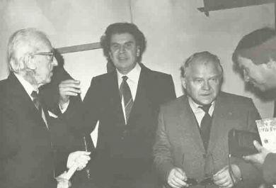 Слева направо - Д.Кабалевский, Микис Теодоракис, Т.Хренников