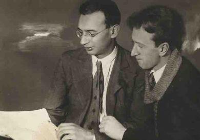 С Б.Хайкиным  1930-е гг.
