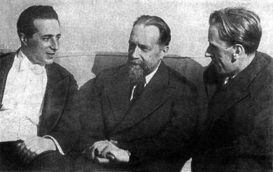 слевавв направо - М.Паверман, Н.Я.Мясковский, Д.Кабалевский. 1936 г.