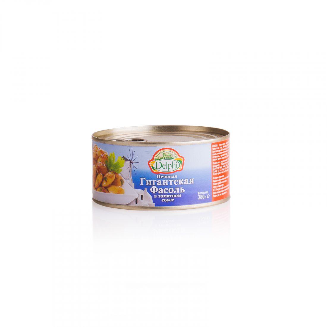 Печеная фасоль в томатном соусе гигантская Delphi - 280 гр