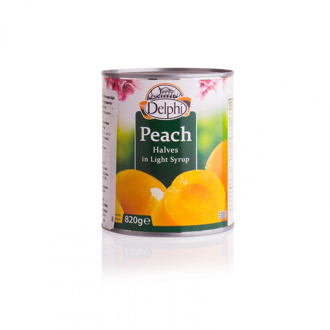 Половинки персика в сиропе Delphi - 820 гр