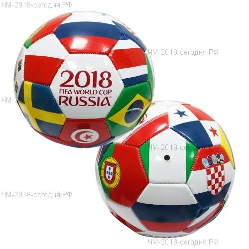 FIFA 2018 футбольный мяч Finalist 2мм, 2 слоя, ПВХ, 400гр, размер 5 (23см)