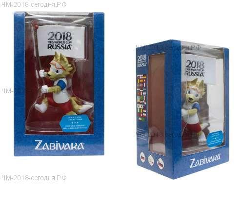 FIFA-2018 фигурка Zabivaka Знаменосец 9 см в подар.кор.(64 наклейки флагов 32х стран-участниц в комплекте)