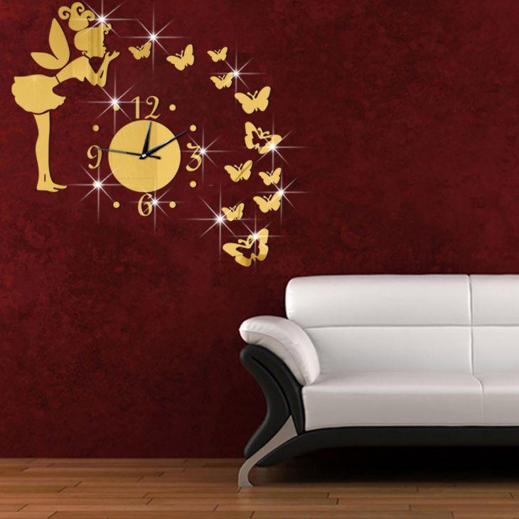 """3D Часы-аппликация """"Фея с бабочками"""""""