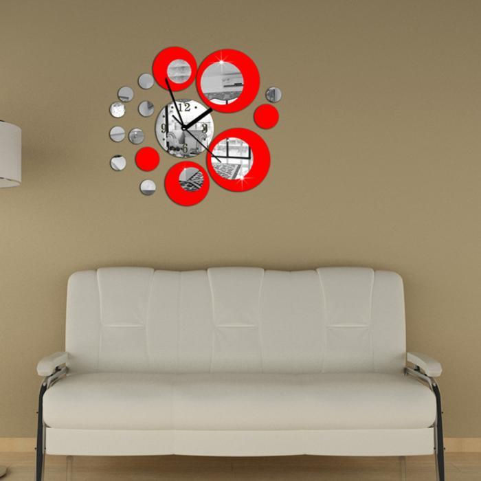 Часы-аппликация 3D