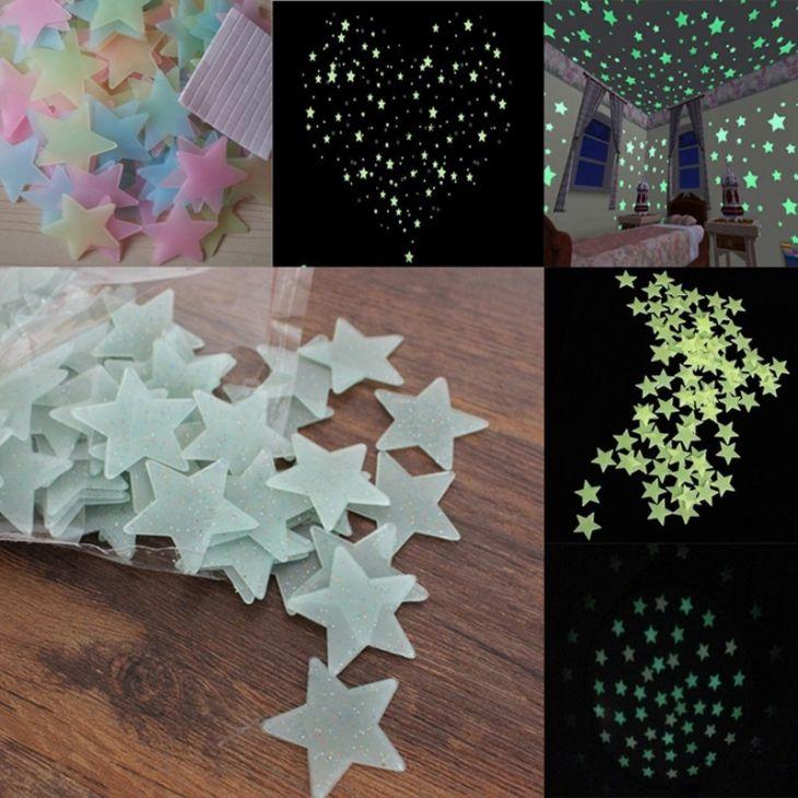 Наклейки светящиеся в темноте для детской комнаты