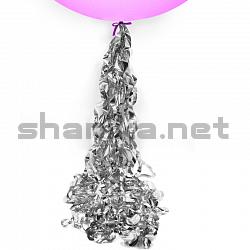 Подвеска металлизированная, Спираль, Серебро