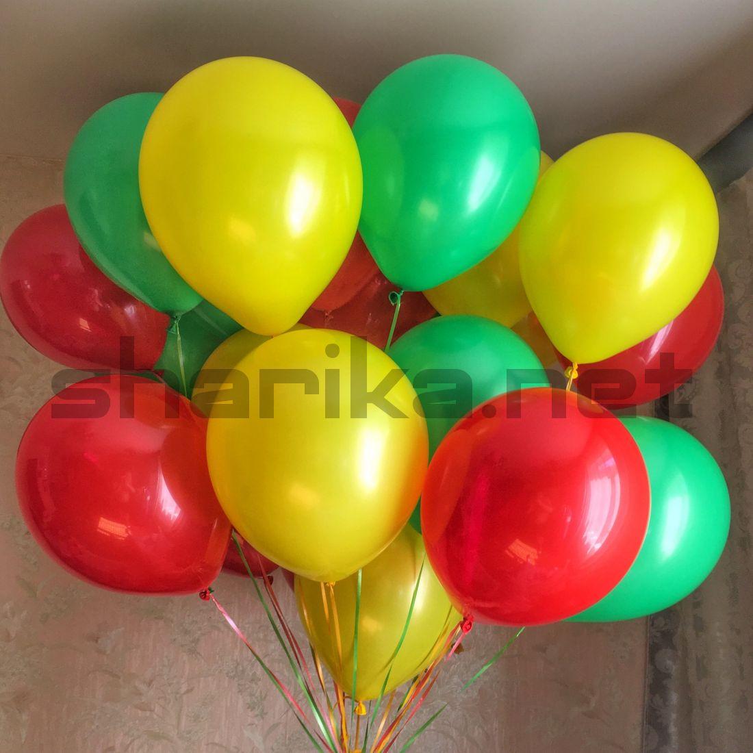 Облако воздушных шариков (12''/30 см) Светофор
