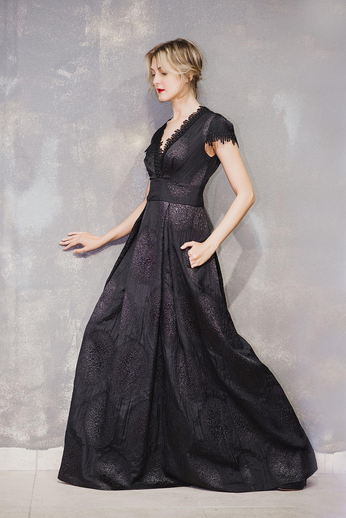 Вечернее черное платье в пол купить с доставкой, шелковое платье ... a70e9407ccc