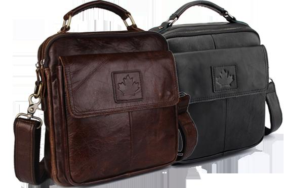 Доп товар с бесплатной доставкой, при условии покупки сменных лезвий Джилет Стильная мужская кожаная сумка CANADA