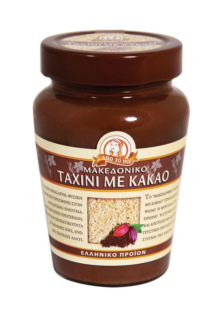 Паста тахини натуральная с какао Македонико - 350 гр