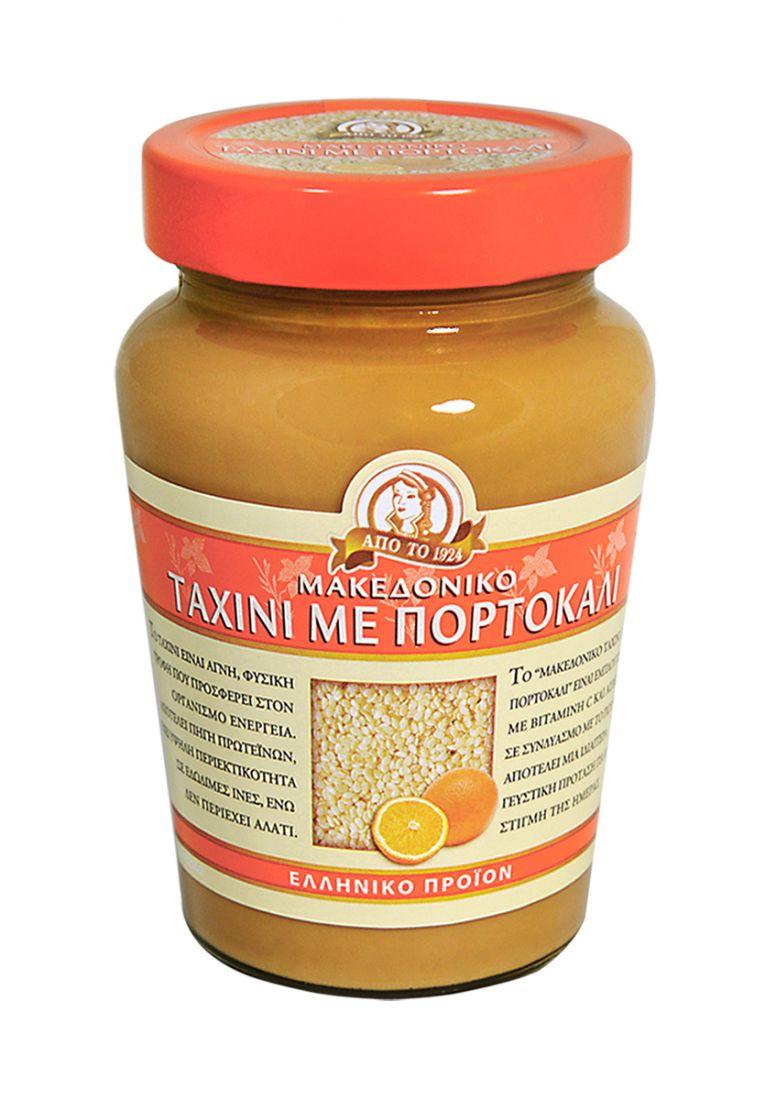 Паста тахини натуральная с апельсином Македонико - 350 гр