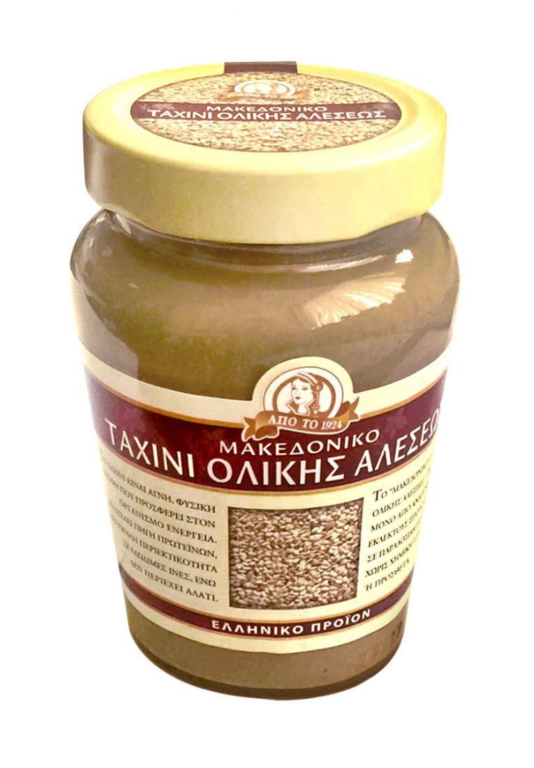 Паста тахини натуральная из неочищенных семян кунжута Македонико - 350 гр