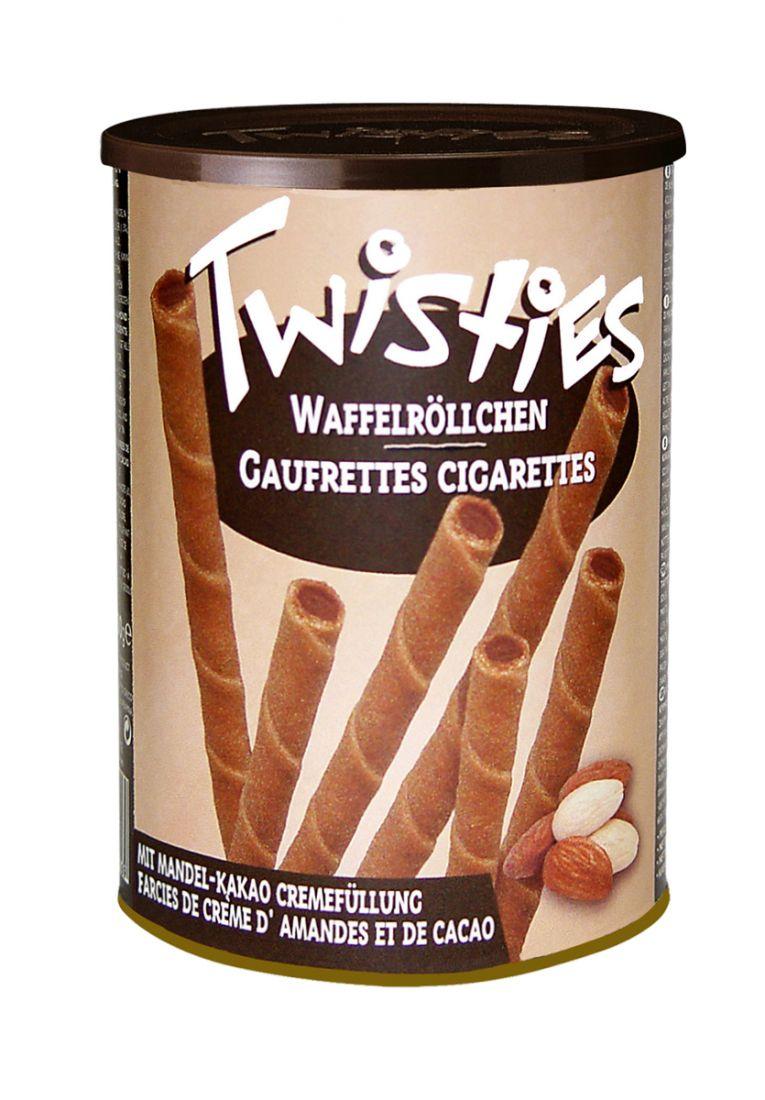 Вафельные трубочки с миндальным  кремом и какао Twisties - 400 гр